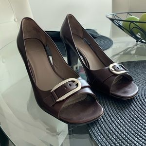 Brown Joan & David Leather Heels